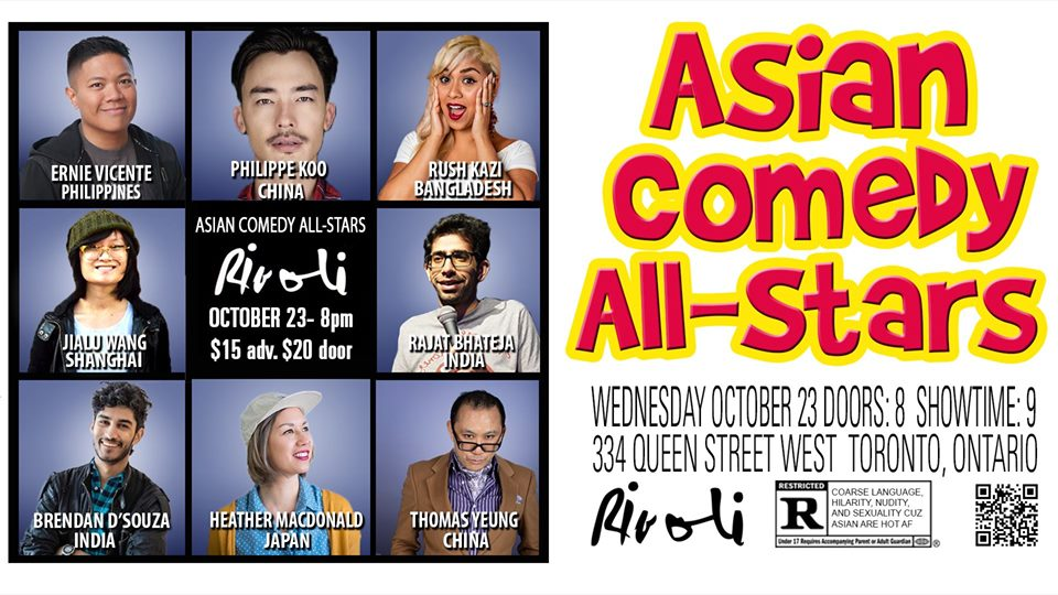 QueerEvents.ca - Toronto event listing - Asian Comedy All-Stars