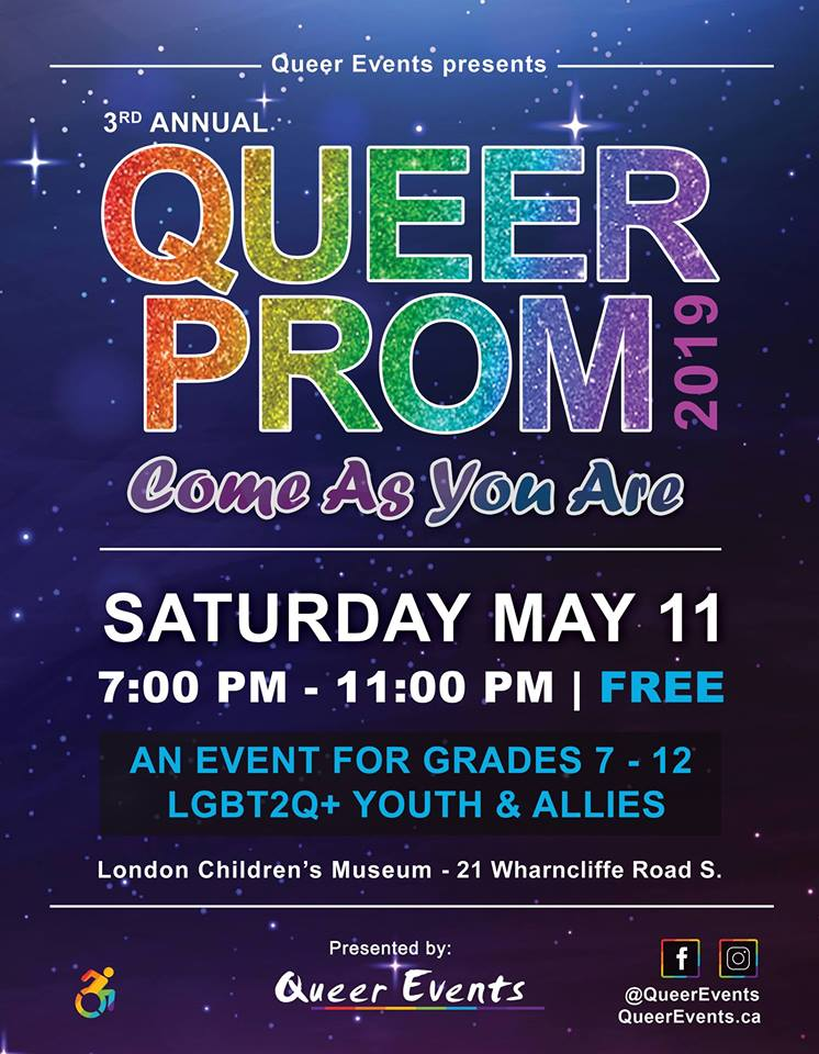 Queer Prom for Youth 2019 Poster
